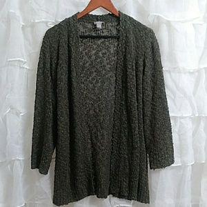 New CHICO'S Open Front Loose Knit Cardigan